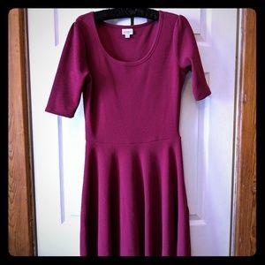 LuLaRoe Dresses - NWOT Lularoe Large Raspberry Nicole